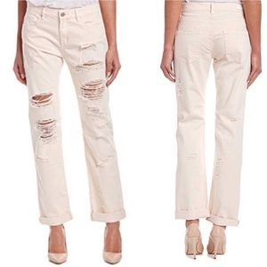 New BlankNYC Ditz Ripped Pink Mid Straight Jean 27